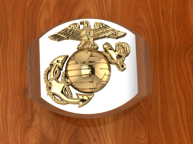 Marine Corps Rings Two Tone