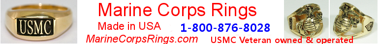 Marine Corps Rings Made in the USA