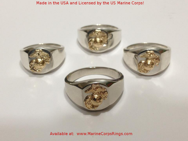 two tone marine corps rings